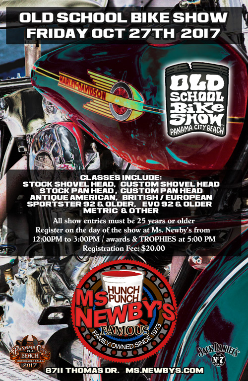 2017 Old School Bike Show at Ms. Newby's Panama City Beach
