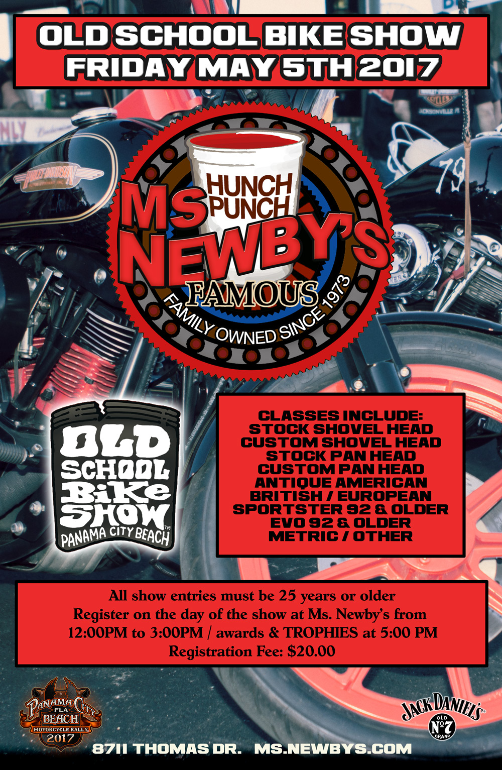 Ms. Newby's Old School Bike Show Poster