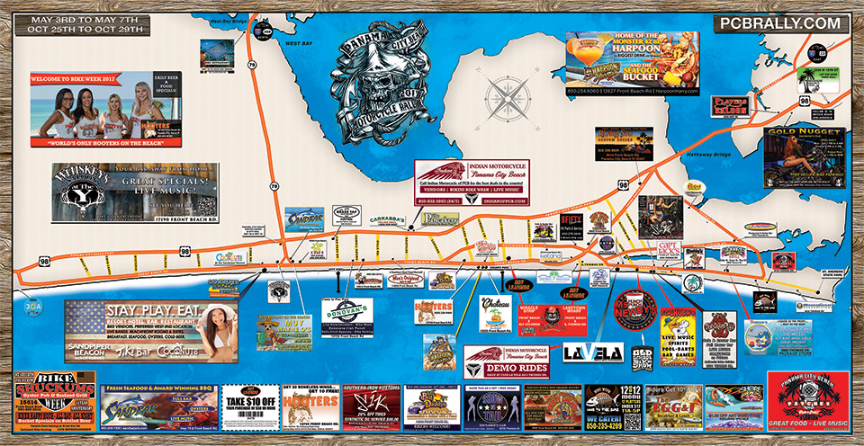 Event Information | Panama City Beach Motorcycle Rally® Map