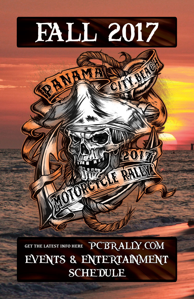 Fall 2017 Panama City Beach Motorcycle Rally® Guide | Page 1 Cover