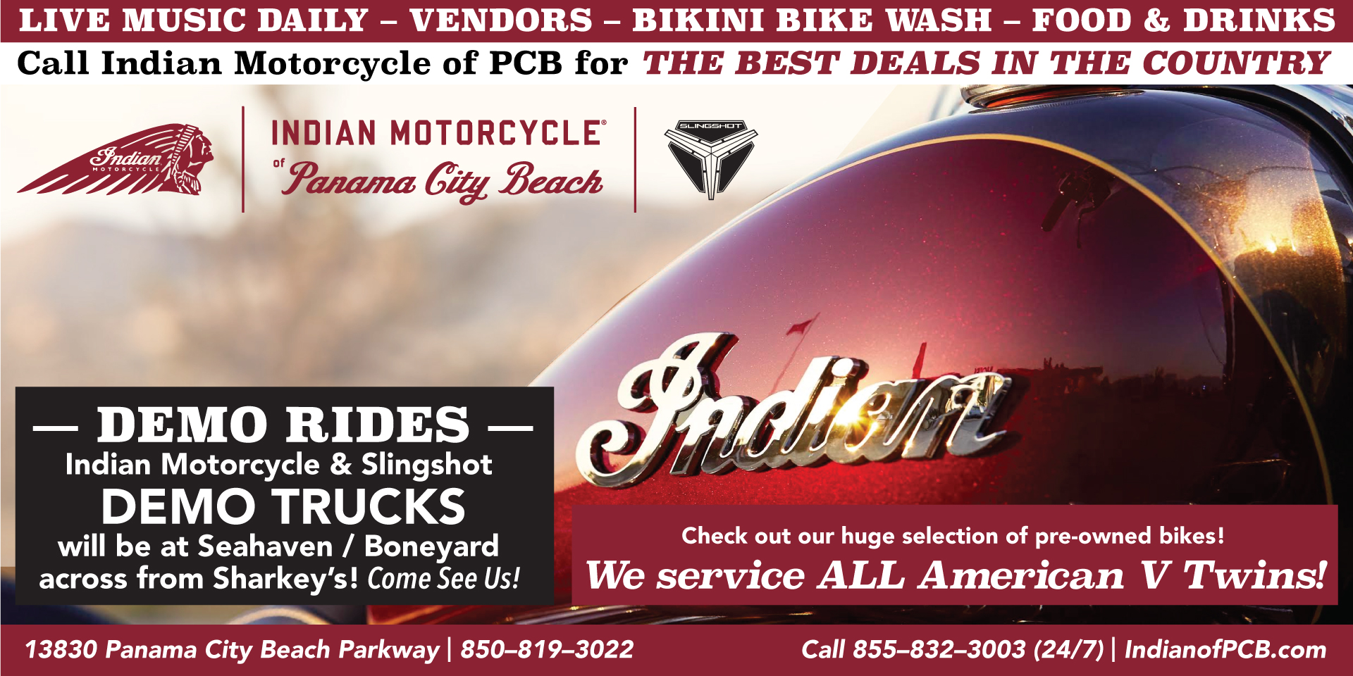Panama City Beach Motorcycle Rally® | Indian Motorcycle of Panama City Beach