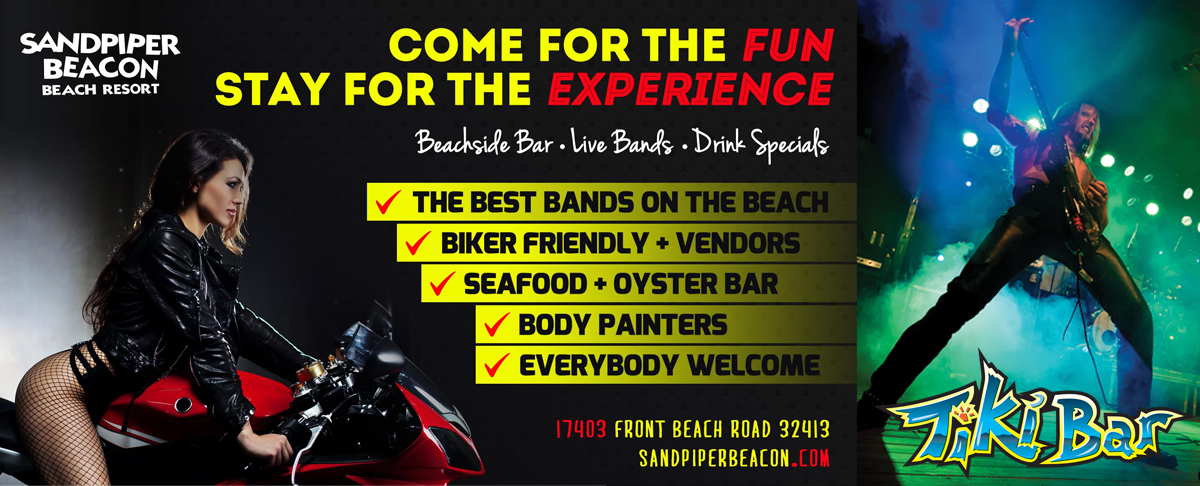 Panama City Beach Motorcycle Rally | Sandpiper Tiki Bar