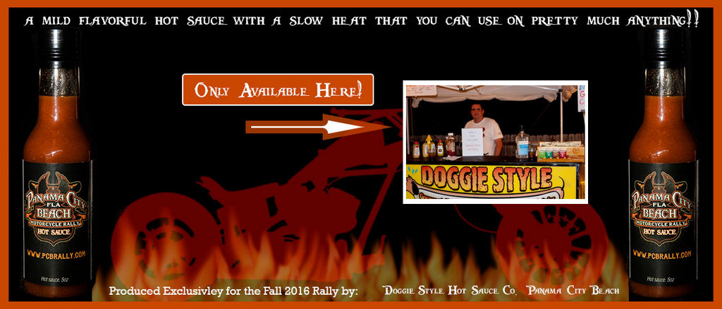 Panama City Beach Motorcycle Rally® | Doggie Style Hot Sauce Promo